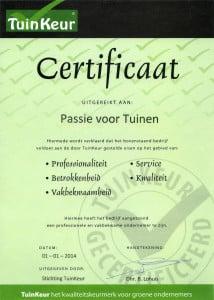 Certificaat PvT
